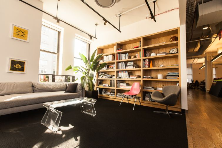 The fifth floor of Compass' office houses the app-based brokerages engineers, and has break out spaces for the tech workers (Photo: Emily Assiran/Commercial Observer).