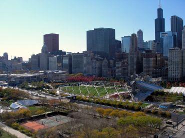 Millennium Park in Downtown Chicago.