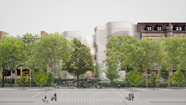 A rendering of the proposed exterior for the Museum's Richard Gilder Center expansion (Photo courtesy: Studio Gang Architects).