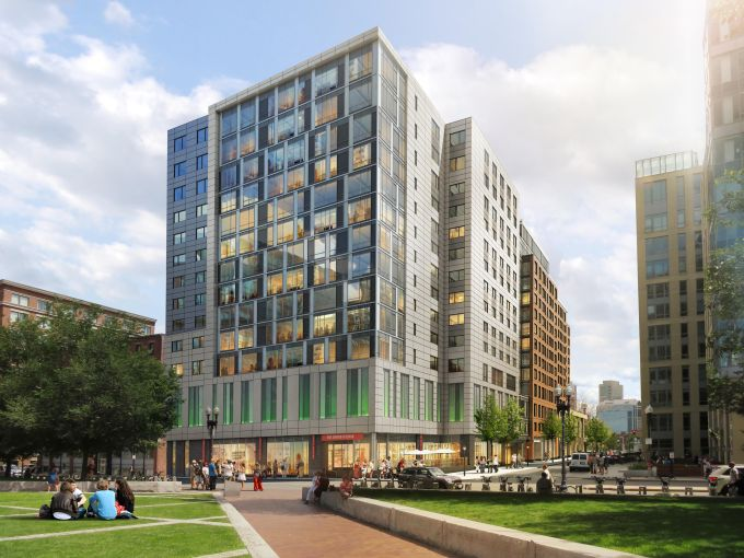 A rendering of Parcel 1B (Image: Boston Redevelopment Authority/Related Beal).