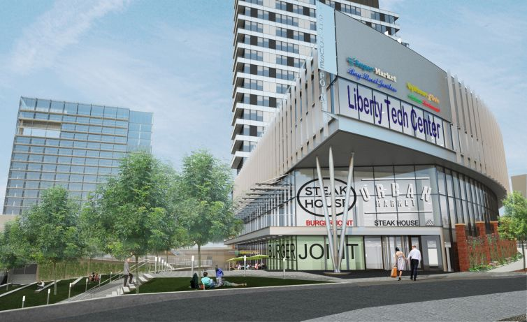 A rendering of the office and retail component of Lighthouse Point (Photo courtesy: Triangle Equities).