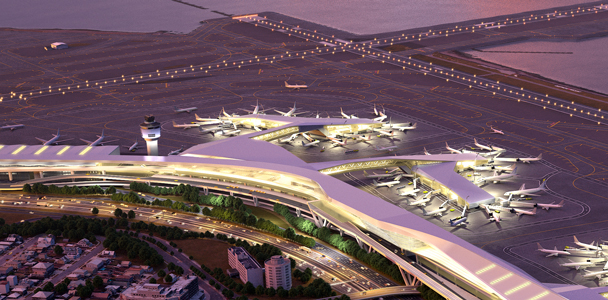 A rendering of the new Terminal B. Photo: LaGuardia Gateway Partnership