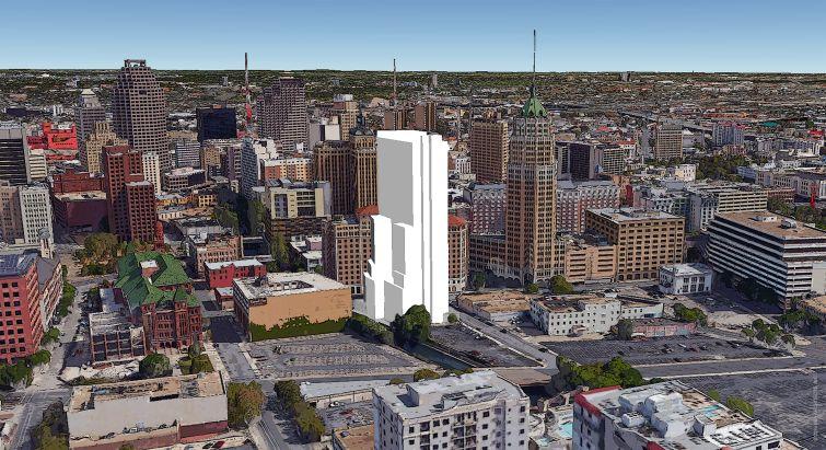 A rendering of Villita Tower at 120 Villita Street in San Antonio, Texas.