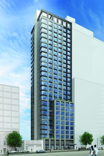 A rendering of Watermark Court Square (Image: Twining Properties).