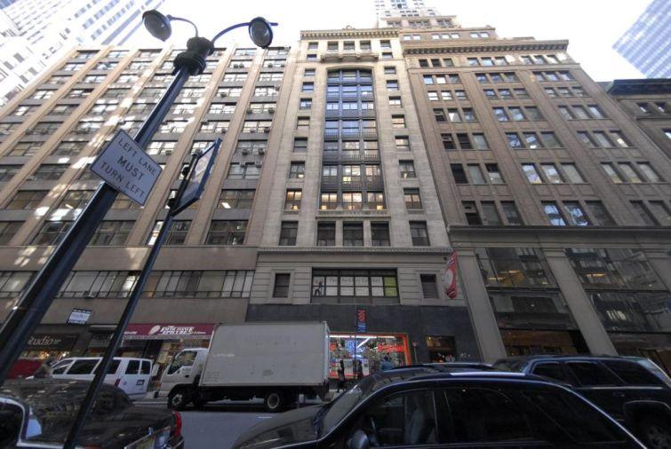 16 East 40th Street, center.
