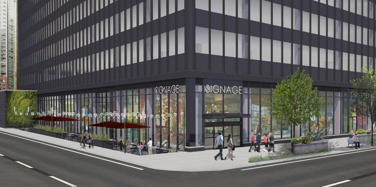 WATER WORKS: A 25,000-square-foot space is on the market at Vanbarton Group's 160 Water Street which could help answer FiDi's wanting (but steadily improving) retail needs.