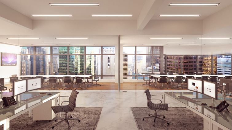 A rendering of the penthouse level (Rendering: Real Estate Arts).