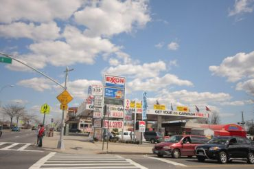 A 2008 photo of 69-02 Queens Boulevard before Gulf Oil took over the gas station.