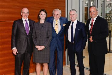 Left to right: Michael S. Zetlin, the moderator, with panelists Jessica Lappin, Larry Silverstein, Tom Vecchione and Jay Badame (Photo: Presley Ann Slack/PMC).