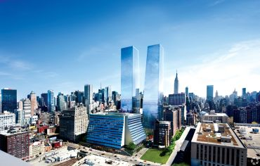 A rendering of Manhattan West.