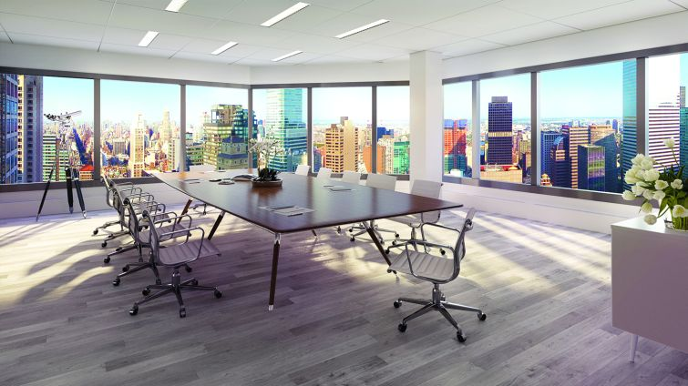 A conference room (Rendering: Real Estate Arts).