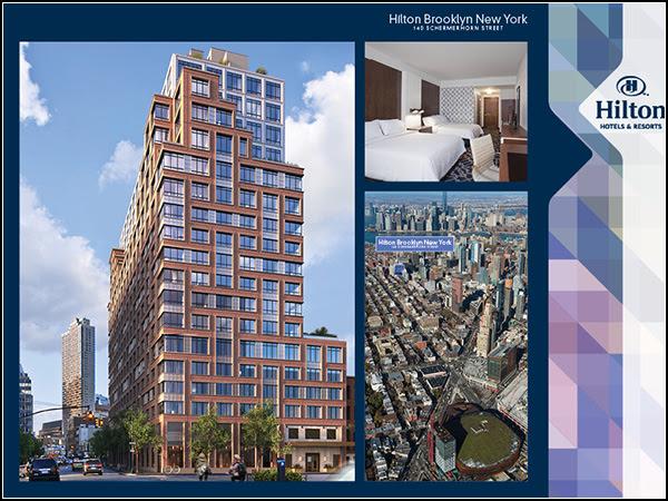 Hilton Brooklyn marketing materials.