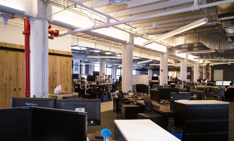 There is open space for its more than 300 employees (Photo: Kaitlyn Flannagan/  For Commercial Observer).