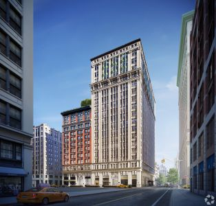 225 Park Avenue South  in Midtown where Facebook has signed for 200,000 square feet of space (Photo: CoStar Group).