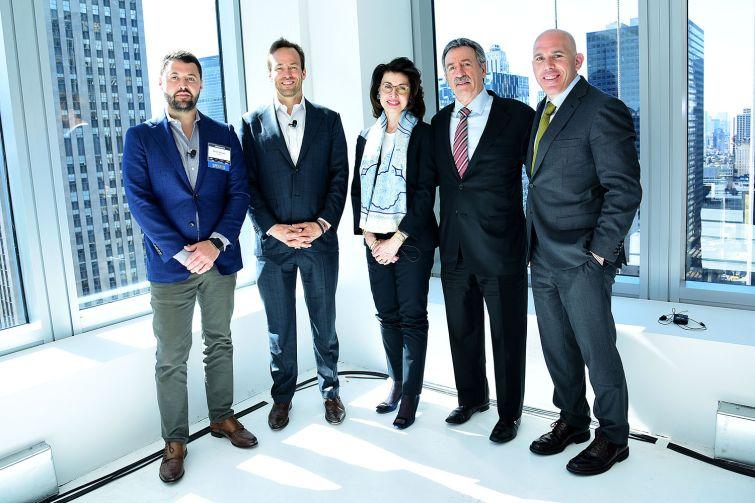 Derek Stewart, Winston C. Fisher, Mary Ann Tighe, Jonathan Mechanic and Scott Rechler were the featured panelist at the event (Photo: Aurora Rose/ PMC).