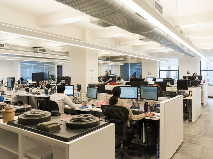 UNOPS ditched its old-school cubicle offices for an open layout. (Photo: Sasha Maslov/ For Commercial Observer).