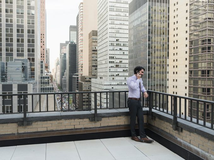 Workers can escape the office briefly through UNOPS' new terrace (Photo: Sasha Maslov/ For Commercial Observer).