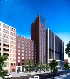 Rendering of Marriott Fairfield Inn at 538 West 58th Street (Image: Gene Kaufman Architect).