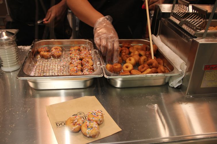 Bite-sized donuts are on offering at Doughnuttery at TurnStyle (Photo: Lauren Elkies Schram/ for Commercial Observer).
