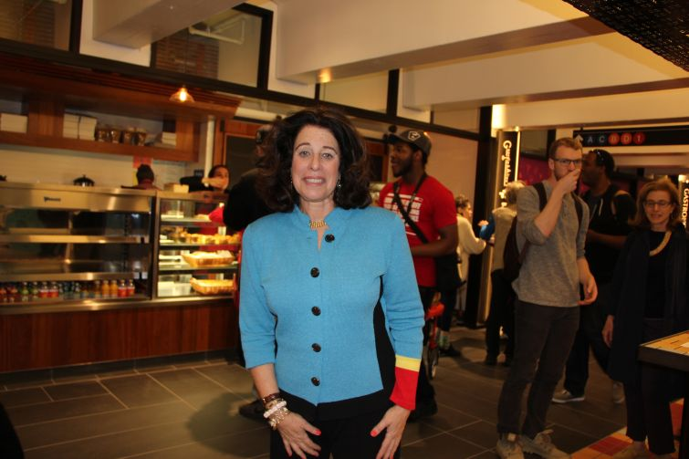 Susan Fine, TurnStyle's developer, at the grand opening. Photo: Lauren Elkies Schram/ for Commercial Observer