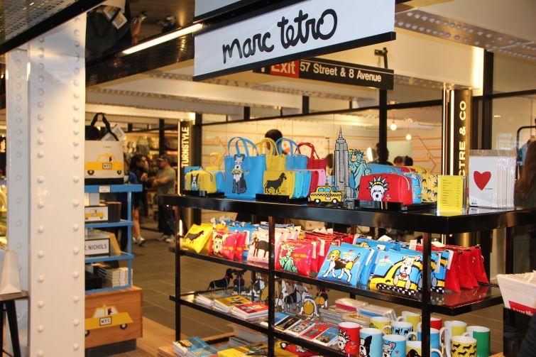 Marc Tetro merchandise at TurnStyle (Photo: Lauren Elkies Schram/ for Commerial Observer).