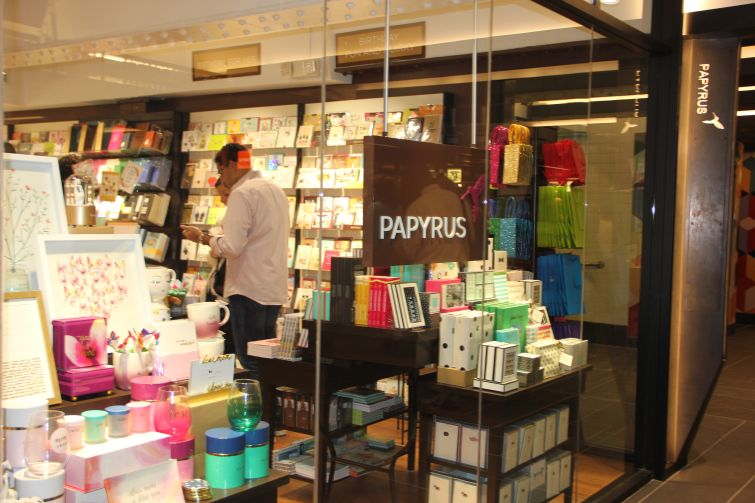 Papyrus has a shop at TurnStyle (Photo: Lauren Elkies Schram/ for Commercial Observer).