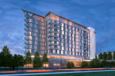 A rendering of the Marriott at 100 Independence Drive in Silicon Valley.