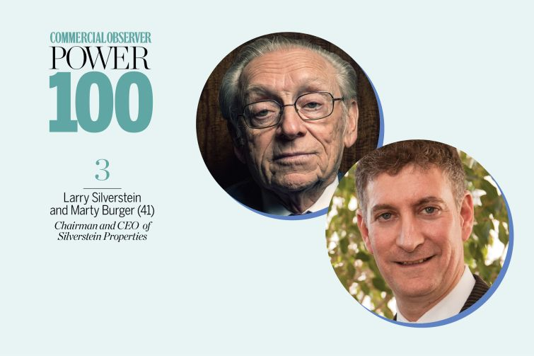 Larry Silverstein and Marty Burger