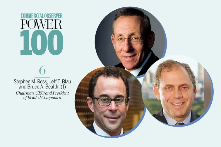 Stephen M. Ross, Jeff T. Blau and Bruce A. Beal Jr.