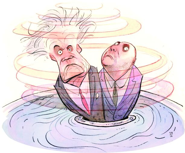 Dean and Adam Skelos (Image courtesy: Steve Brodner).