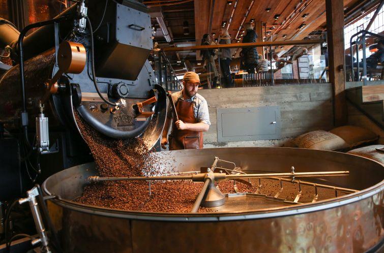 Starbucks Roastery in Seattle (Photo: Joshua Trujillo for Starbucks).