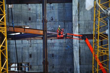 Construction at City Point in Brooklyn. Photo: Michael Nagle