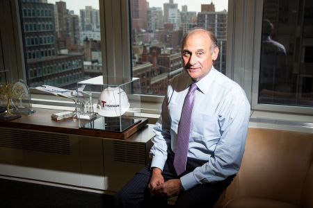Daniel Tishman in his office at 100 Park Avenue (Photo: Michael Nagle).