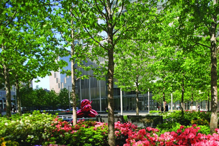 Silverstein Properties opted to build a park across from 7 World Trade Center.