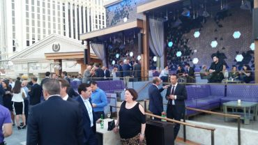 Bank of Americas' party at the Omnia at Caesars Palace (Photo: Lauren Elkies Schram/Commercial Observer).