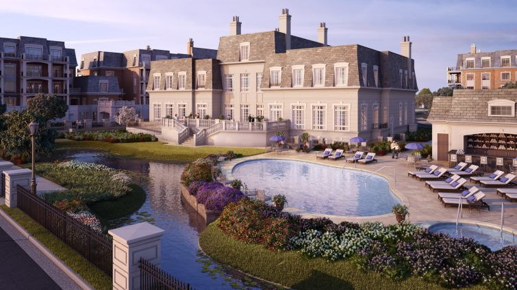 A rendering of the Ritz-Carlton Long Island' North Hills (Image Courtesy: RXR Realty).