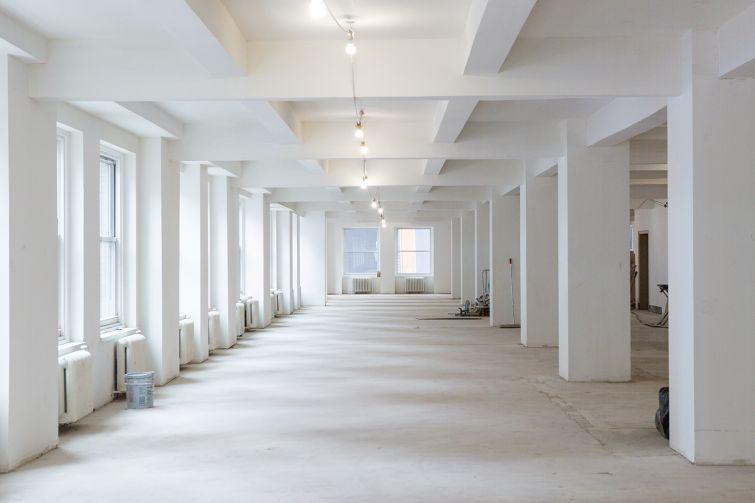 Open space on the ten floor (Photo: Sam Ortiz/ For Commercial Observer).