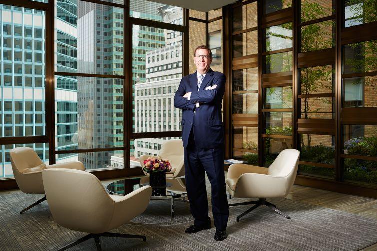 Steve Durels of SL Green inside his Manhattan office at 420 Lexington Avenue (Photo: Yvonne Albinowski/ for Commercial Observer).