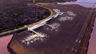 A rendering of the new LaGuardia Airport.
