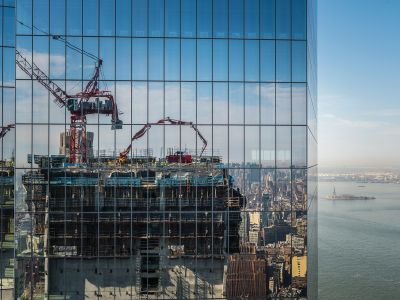 Tishman Construction, an AECOM company, is going to top out 3 World Trade Center this summer. (Photo:  Sasha Maslov/ for Commercial Observer).