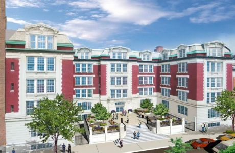A rendering of 350 East 10th Street.