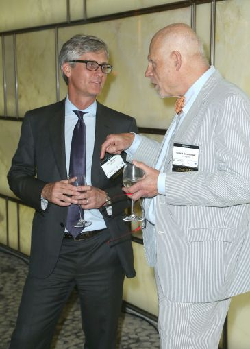 Gino Martocci of M&T Bank, left, and Francis Greenburger of Time Equities (Photo: Jimi Celeste/PMC).