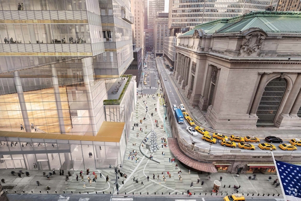 A rendering of One Vanderbilt, which will sit across from Grand Central Terminal (Courtesy: CoStar Group).