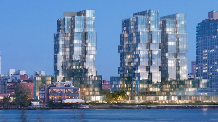 A rendering of 416-420 Kent Avenue.