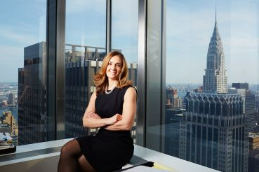 Judy Guarino at J.P. Morgan Chase's 270 Park Avenue office (Yvonne Albinowski/For Commercial Observer).