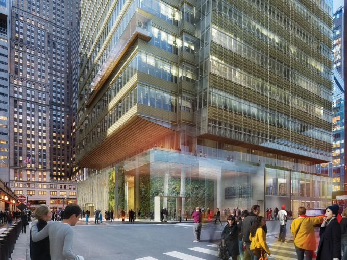 Being that One Vanderbilt Place will be built across from the busy Grand Central Terminal, Tishman Construction will have a challenge on its hands to erect the tower (Rendering: Kohn Pedersen Fox).