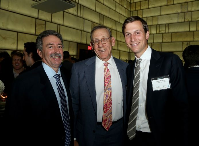 Left to right: Jonathan Mechanic of Fried, Frank, Harris, Shriver & Jacobson, Stephen Ross of Related Companies, Jared Kushner of Kushner Companies and the publisher of Commercial Observer (Photo: Jimi Celeste/PMC).