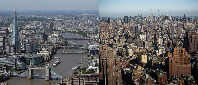 London and New York City.