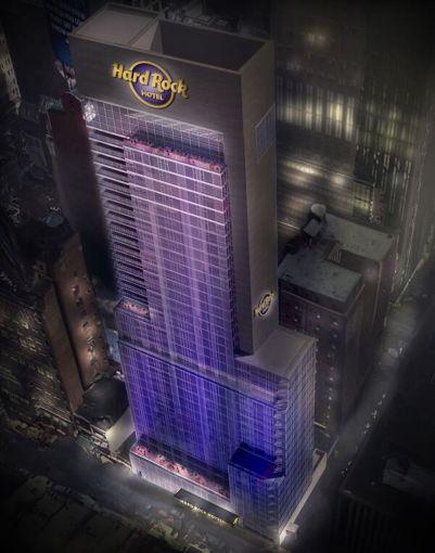 A rendering of the new Hard Rock Hotel New York (Rendering: Hard Rock International).