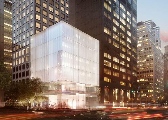 The Park Avenue Cube at 432 Park Avenue (Rendering: Macklowe Properties).